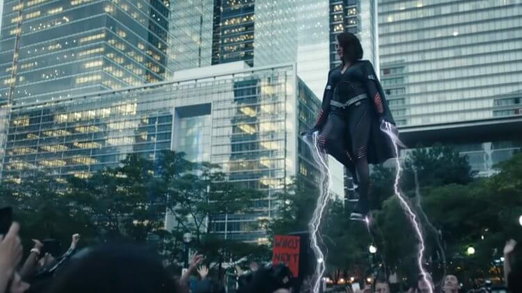 《黑袍糾察隊》第二季艾雅凱許飾演的新角色「風暴陣線」。