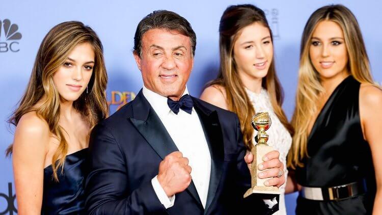 席維斯史特龍有三個漂亮女兒