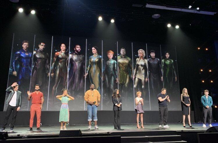 《永恆族》的角色造型在 2019 年的 D23 博覽會首次曝光。