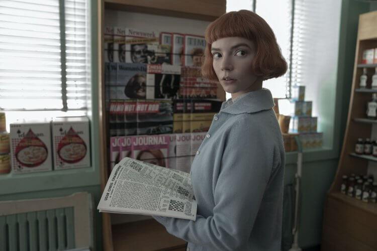 Netflix 影集《后翼棄兵》劇照。