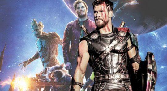 雷神索爾與星際異攻隊一同闖蕩宇宙。