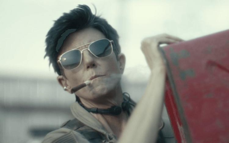 《活屍大軍》推出了,戴夫巴帝斯塔卻仍未見過他的直升機駕駛——因為提格諾塔羅是「綠幕補拍」加入的