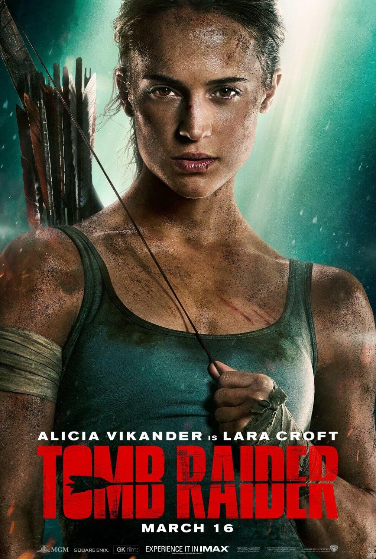 古墓奇兵 Tomb Raider 艾莉西亞薇坎德 蘿拉 吳彥祖 電影海報
