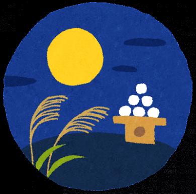 日本的中秋節「十五夜賞月」。