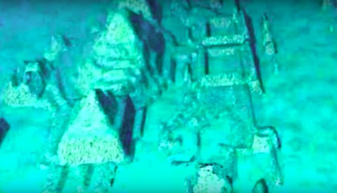 科學家以水底機械人,拍攝到百慕達三角海底有神秘建築。