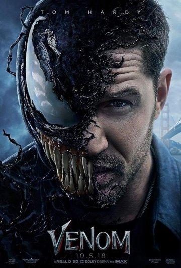 索尼 超級英雄電影 《 猛毒 》 電影海報 。