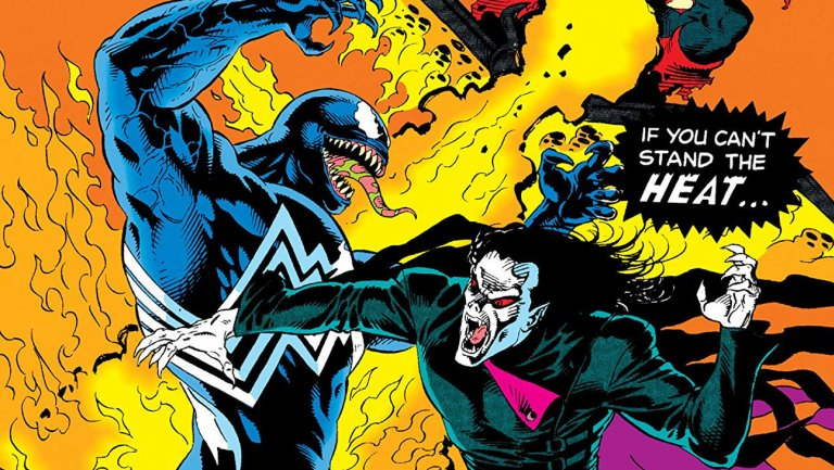 蜘蛛宇宙 漫畫中的「 猛毒 」及「 莫比亞斯 」。