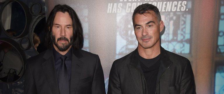 導演查德史塔赫斯基 (Chad Stahelski)與基努李維 (Keanu Reeves) 。