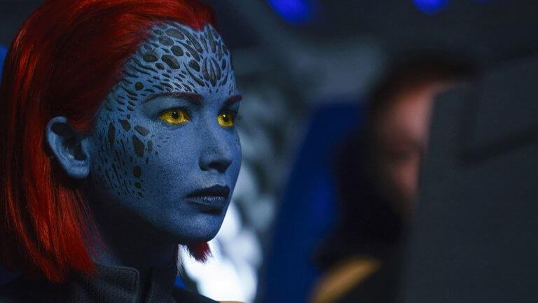 珍妮佛勞倫斯(Jennifer Lawrence) 在《X 戰警:黑鳳凰》(X-Men: Dark Phoenix) 裡飾演的魔形女。
