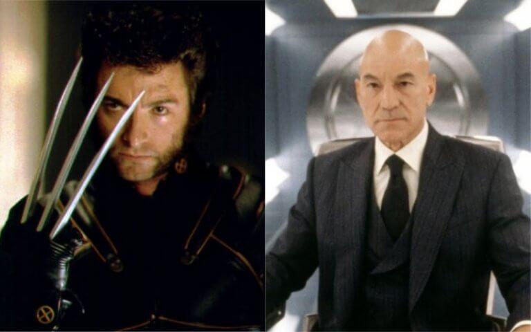 近年來《X 戰警》系列電影中出現的金剛狼以及 X 教授(分別由休傑克曼、派翠克史都華飾演)。